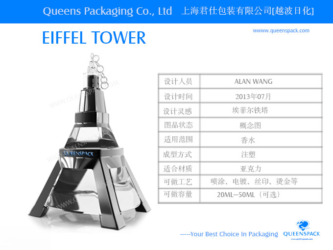 queenspack - 香水喷雾器 - 塑料制香水喷雾器 - 铁塔